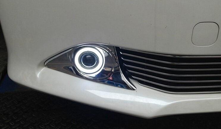 ДХО CCFL ангел глаз ( 6 цветов ) + объектив проектора + H3 Галогенные противотуманные фары + черный дом противотуманная фара для Тойота Камри 2011-12, 2шт