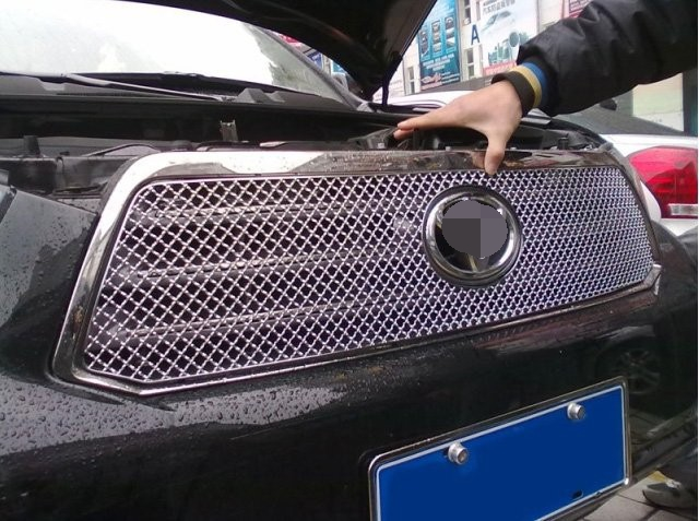 High quality stainless steel Front Grille Around Trim Racing Grills Trim For 2008-2010 Toyota Highlander abs chrome front grille around trim racing grills trim for 2013 hyundai santa fe ix45