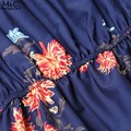 Babados barra mulheres neck dress 2017 verão sexy fora do ombro a linha dress retro floral imprimir beach dress vestidos casuais s-xl U2