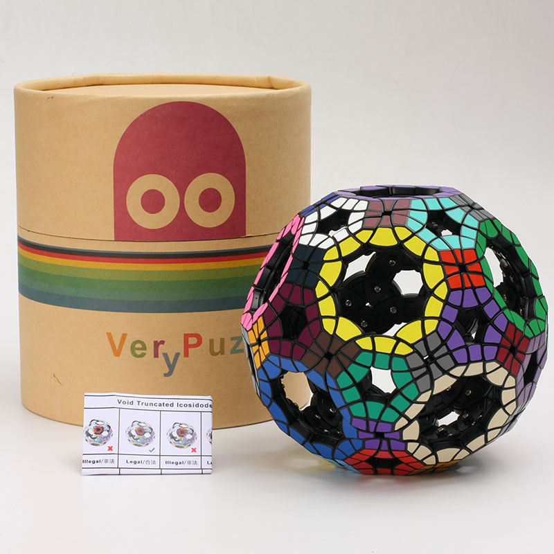 Newest Tops VeryPuzzle Void Truncated Icosidodecahedron (assembled) Limited Edition Twisty Puzzle Cubes Educational Toys Magical new mf8 eitan s star icosaix radiolarian puzzle magic cube black and primary limited edition very challenging welcome to buy
