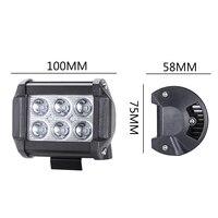 18W Led Work Lights 6 Lights Spotlights Led Inspection Lights Modified Off Road Car Dome Light