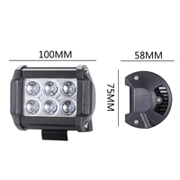 18W Led Work Lights 6 Lights Spotlights Led Inspection Lights Modified Off Road Car Dome Light