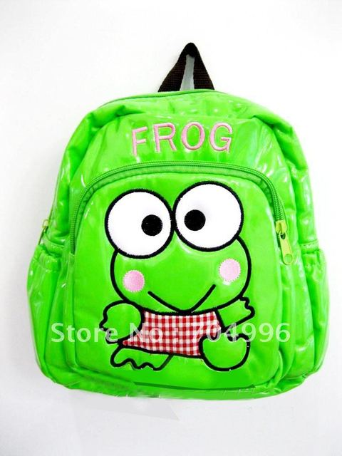 Free Shipping - Fashion Cartoon bags, Baby backpack, kid's Bags, School Bags, Frog backpack,gift for children (MOQ: 1pc)