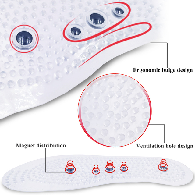 Magnetic Therapy Insoles for Slimming Weight Loss Foot Massage Health Care Shoes Mat Pad Acupuncture Shoe Sole insert 1