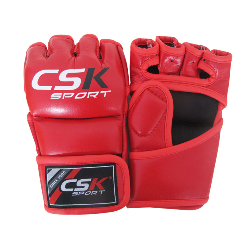 Short Boxing Gloves Training MMA Pu Punching Half Fighting Muay Thai Gym Punch