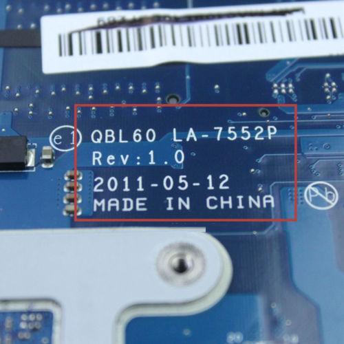 K53TK emaplaat LA-7552P RAM ASUS K53TA K53TK X53T K53T sülearvuti - Arvuti komponendid - Foto 5