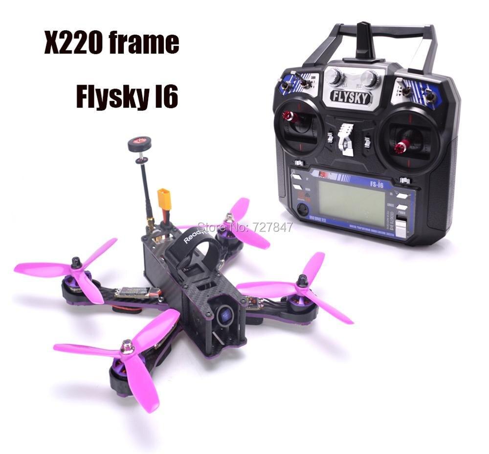 DIY X220 220mm Carbon Fiber F3 Flight Control 2205 2300KV Motor Littlebee 30A BLHeli-s ESC Flysky I6 For Wizard RC Models