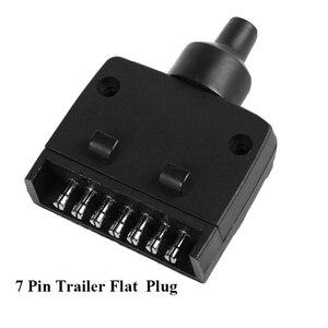 Image 3 - 12 V Auto Accessoires 7 Pin Platte Trailer plug 7 manier core pole truck vrouwelijke adapter Towing Elektra campe towing connector