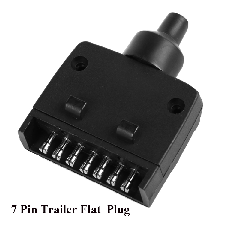 Image 3 - 12V Car Accessories 7 Pin Flat Trailer plug 7 way  core pole  truck  female  adapter Towing Electrics campe towing  Connector-in Trailer Couplings & Accessories from Automobiles & Motorcycles
