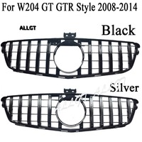 Front Grill fit for Mercedes Benz W204 C Class SL C200 C300 C350 GTR Style Grille 2008 2014 2008 2009 2010 2011 2012 2013 2014