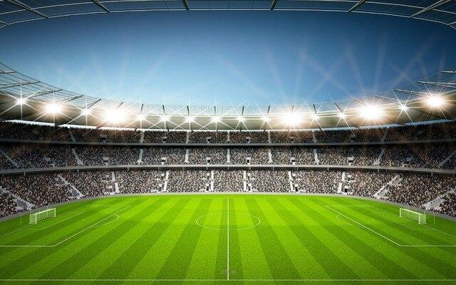 7x5FT дневной Футбол футбольное поле цель стадион аудитория платформы оригинальный студийный фон Виниловый фон 220 см x 150 см