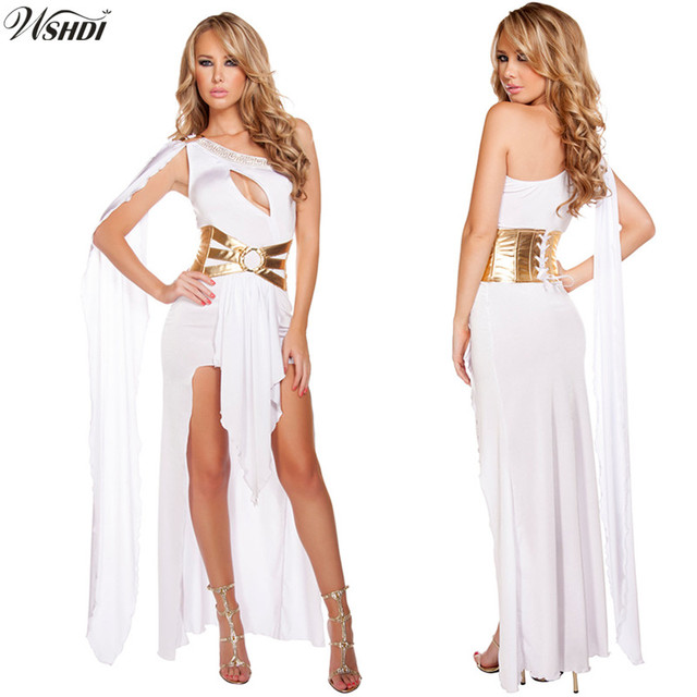 1d98758a7c6c 2018 New High Quality Cleopatra Masquerade Party Dress Greek Goddess  Cosplay clothing Adult Egyptian Queen Costume Halloween