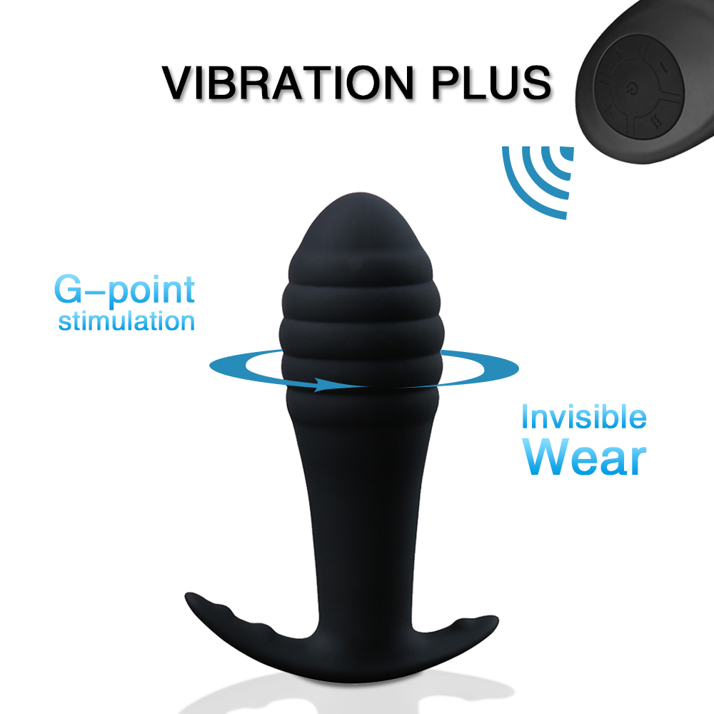 Vibrating Anal Butt Plug Adult Sex Toy For Men Prostate Massage Medical Silicone Anal Dildo Vibrator For Women Vagina Stimulator (7)