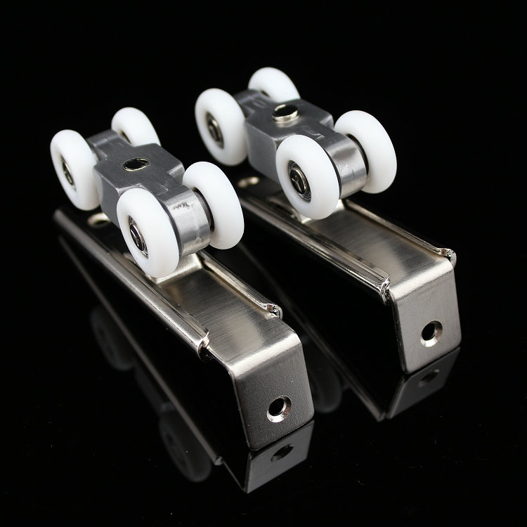 (1 pair/set) Ultra-quiet Wooden Furniture Sliding Door Pulley Hanging Track Nylon Wheel Glass Bearing Door Hardware