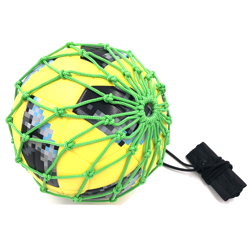 Handle Solo Soccer Kick Trainer with New Ball Locked Net Design football Ball Bungee Ela ...