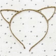 Fashion girls cat ears Leopard hair hoop colorful headband hoop girl headdress women Hair Band accessories 7031