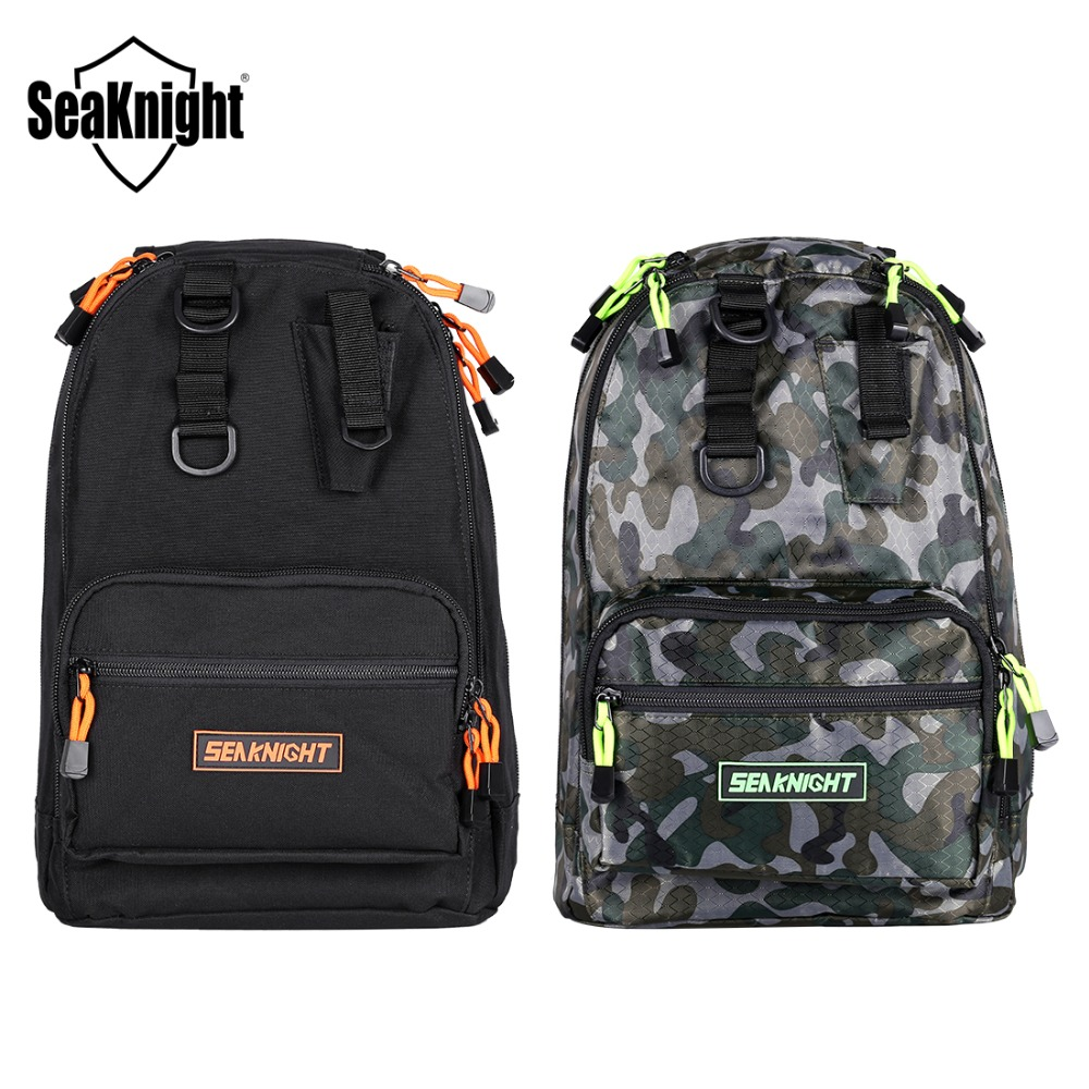 04ec2f5abeb4 SeaKnight SK005 Fishing Bag 1000D Nylon Single Double Adjustable Shoulder  Strap Outdoor Breathable Backpack Multifunction Tackle-in Fishing Bags from  Sports ...