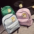 Estilo japonés de Las Mujeres Mochilas de Los Estudiantes de Secundaria Morral de la Lona de la Impresión del Perro Lindo Hombro Bolsa BagTravel Mochila