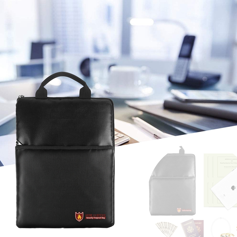 2018 New Fire Resistant Waterproof Safe Bag Briefcase For Important Documents