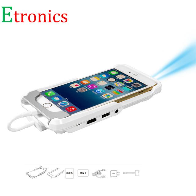 IOS Smartphone Teléfono Móvil Proyector HDMI Inalámbrico mini LED portátil de vídeo full hd pico proyector de vídeo de Cine en casa LED