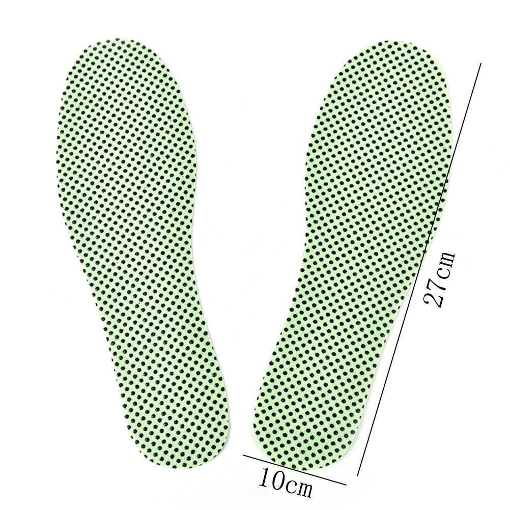 1 par de plantillas de autocalentamiento plantillas cálidas de reflexología plantillas de turmalina Natural autocalentamiento plantillas de invierno para calzado calentado