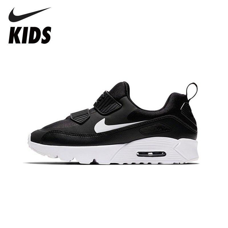 NIKE AIR MAX PICCOLO 90 Scarpe Per Bambini Nuovo Arrivo Traspirante di Sport dei bambini Runningg Scarpe Confortevole Scarpe Da Tennis #881927-007