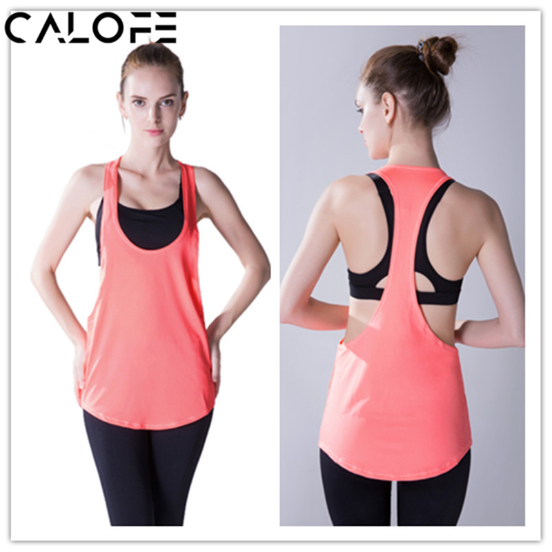 Trustful 2018 New Women Yoga Shirts Sleeveless Sports Tunic Sports Bra Cover Up Backless Sports Top Fitness Gym Running Shirts Yoga Top Moderate Price
