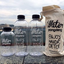 600ML-1000ML Heat resistant cold glass Water bottle Sports Outdoor Camping Hiking Leak-Proof Bicycle Kettle With Bag