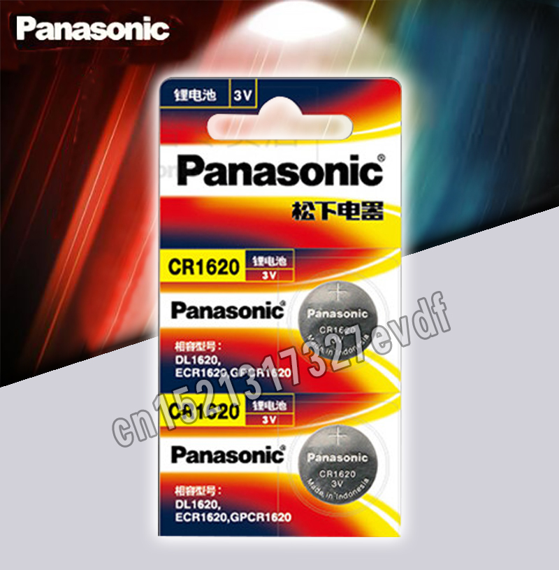 Panasonic Original Product 2Pcs/Lot Cr1620 Button Cell Batteries For Watch 3V Lithium Battery CR 1620 Remote Control Calculator