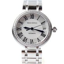 Seagull Rhinestones Roman Numerals Dial Onion Crown Automatic Mechanical Women's Watch 716.417L