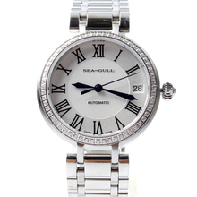 Seagull Rhinestones Roman Numerals Dial Onion Crown Automatic Mechanical Women's Watch 716.417L