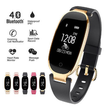 Fashion Fitness Smart Bracelet Watch Women IP68 Waterproof Bluetooth Heart Rate Monitor Fitness Bracelet Band For Android IOS Women Sports Watches