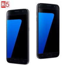 "Orijinal Unlocked Samsung Galaxy S7 G930F/S7 Kenar G935F LTE Octa Çekirdek 5.1 ""12MP 4G 32G ROM GSM android cep telefonu S7 Telefon"