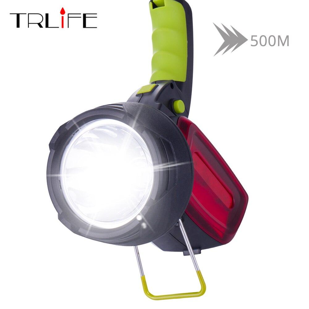 12000 Lumen High Power Tragbare Led Taschenlampe Suchscheinwerfer Eingebaute Batterie 3 Lichtquellen Taschenlampe Weiß + Rot Licht Mit Kabel