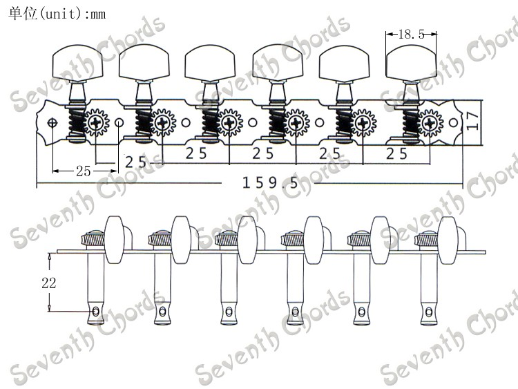 A Set 6r6l Chrome String Tuners Tuning Pegs Keys Machine Heads For