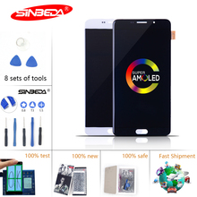 6.0Super AMOLED For SAMSUNG A910 LCD Display Touch Screen Galaxy A9 Pro 2016  A9100 A910F Display*
