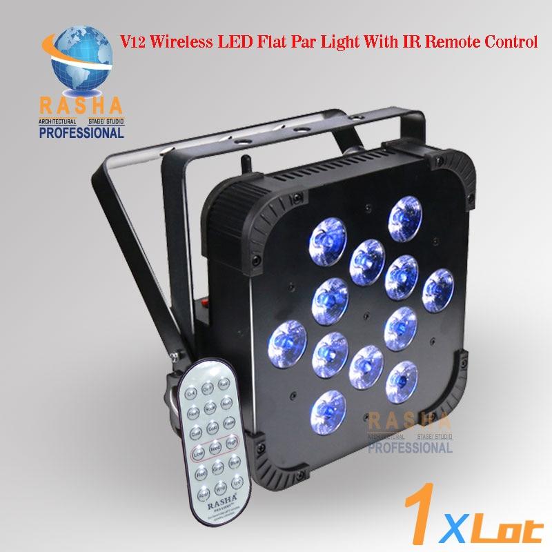 Rasha Hot Sale UK Stock Tax Free 12leds*18W 6in1 Wireless LED Flat Par Light Wifi LED Slim Par ADJ Par Projector Stage Lighting