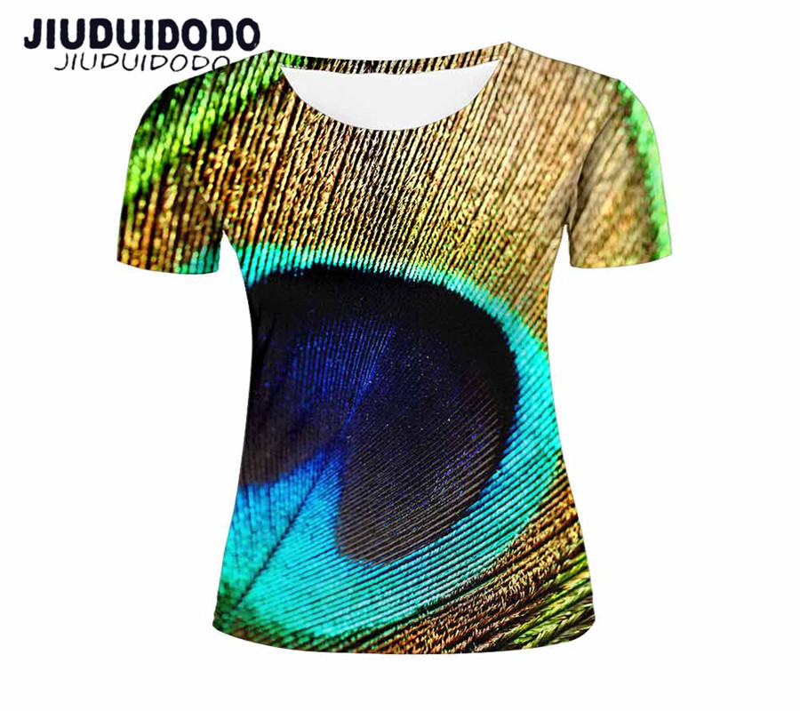 76e18318f2c4 Women Funny Short Sleeve T Shirt 3D Pink Flamingo feather Water Droplets  blue sky Print Summer t shirt Ladies Female Tops Tee-in T-Shirts from  Women s ...