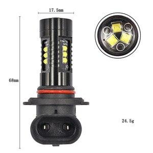 Image 5 - 1x LED ערפל אורות רכב 6000K לבן 9005 9006 מתח גבוה LED רכב ערפל נהיגה פנס נורות אור נורות עבור מכוניות