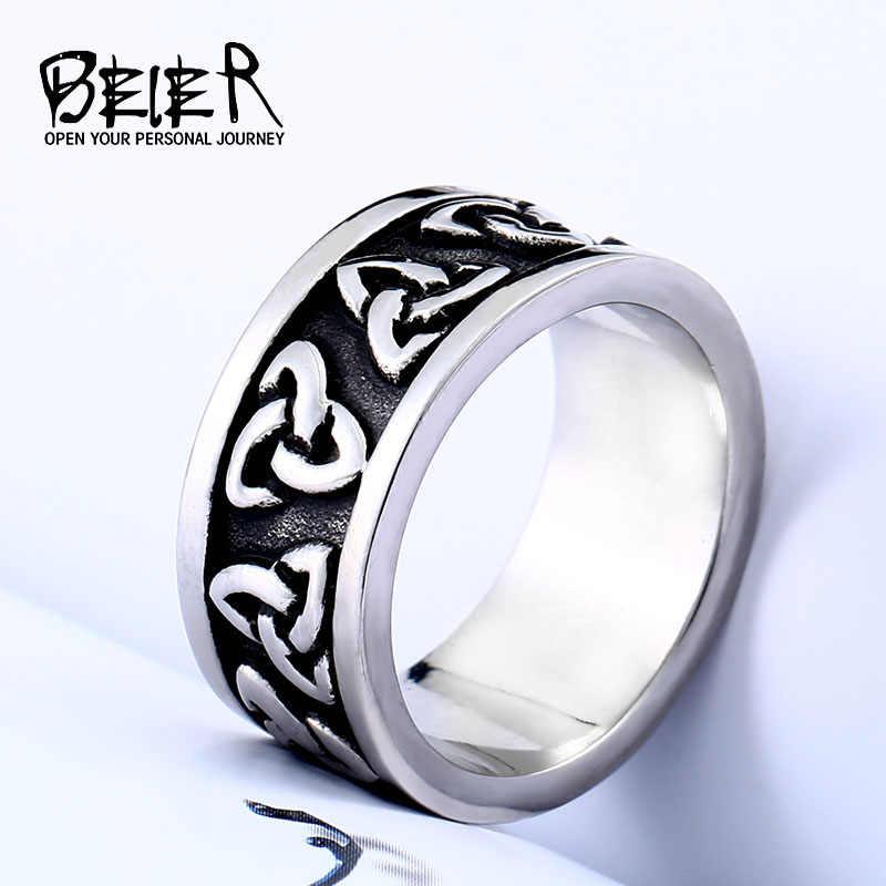 Beier Viking Jewelry Stainless Steel Nose Viking Amulet Simple And Stylish Odin Scandinavian Men Women Ring Jewelry Lr513
