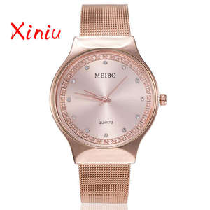 286502b393d xiniu 2018 Women Watch Stainless Steel Luxury Wristwatch