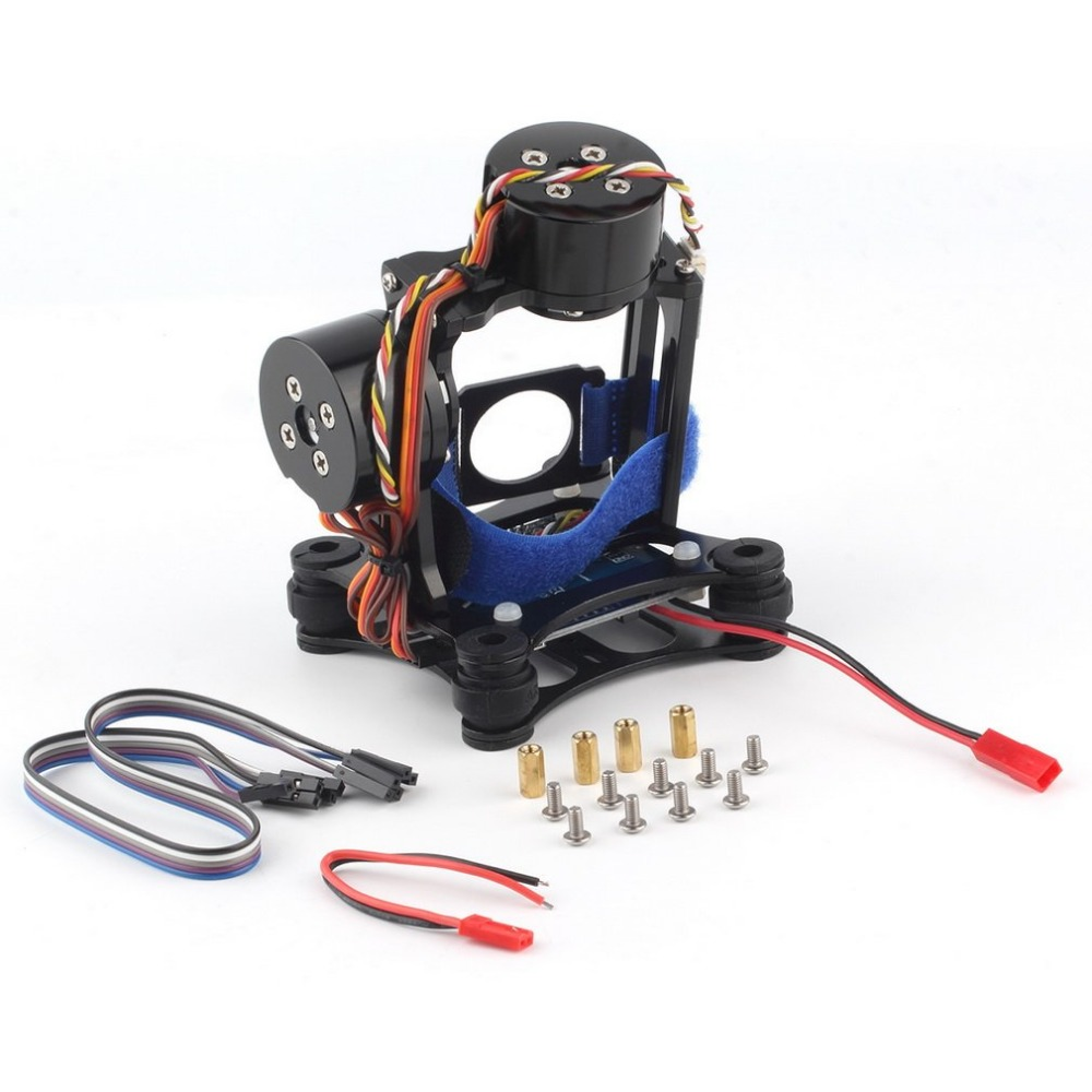 CNC de cardan en argent Structure en alliage d'aluminium poids léger sans balais cardans moteur et contrôleur de caméra pour DJI Phantom 3 FPV