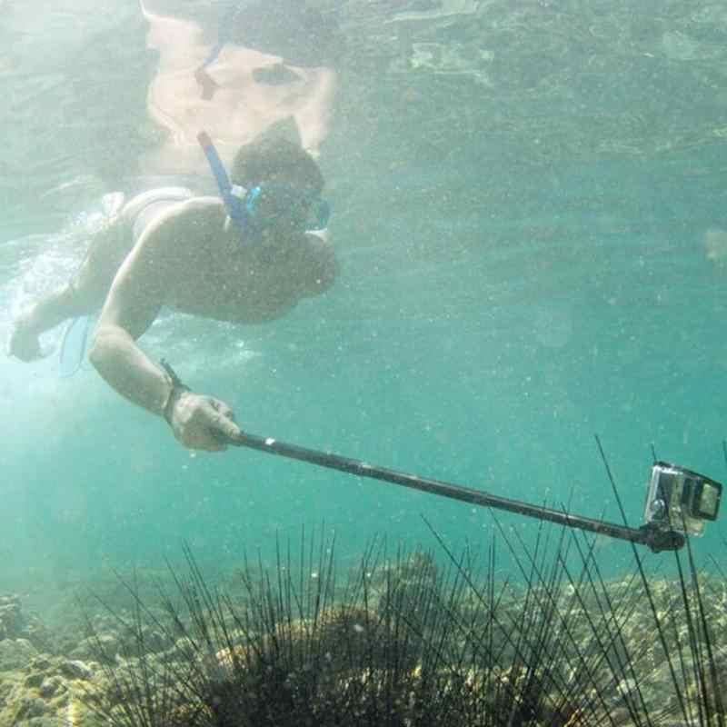 Tahan Air Monopod Tripod Telescoping Diperpanjang Tiang Handheld Tripod Gunung Tongkat Selfie Untuk GOPRO HERO 2/3 Kamera Aksi Video