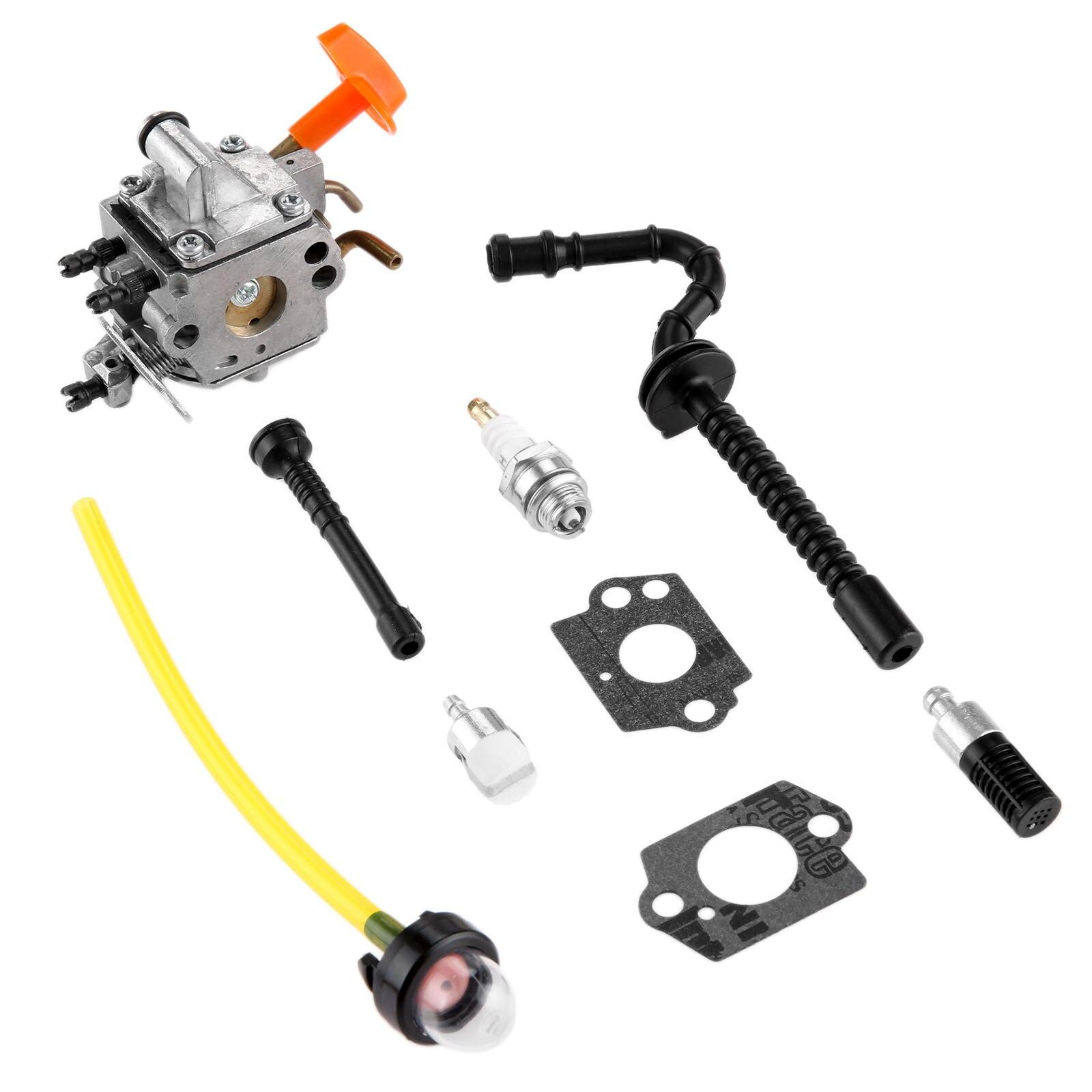 DRELD Carburetor Carb for Stihl MS192 MS192T MS192TC Chainsaw Zama C1Q S258 with Gasket Fuel Filter Hose Pimer Bulb Spark Plug
