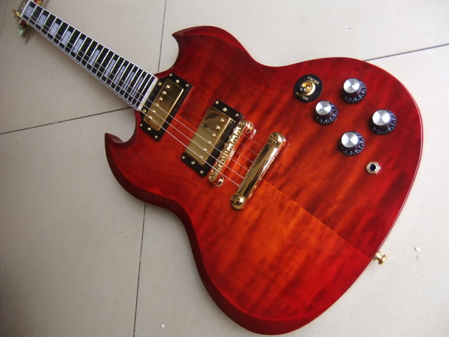 Wholesale New Cnbald SG Electric Guitar G400 Model In Cherry Burst 110321 new arrival acrylic body electric guitar g400 made of plexiglass sg 110718