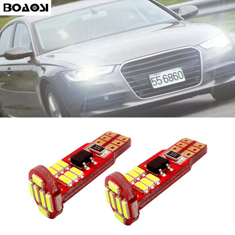 BOAOSI 2x T10 W5W LED Wedge Light Marker Lamps Bulb For AUDI A2 A3
