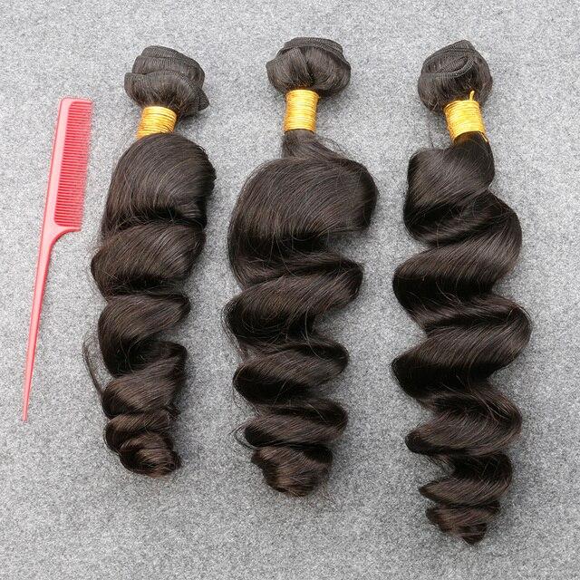 Unprocessed Brazilian Virgin Hair Loose Wave Slove Rosa  Products 3 Bundles Grade 6A 100% Human weave bundle Hair Shipping Free