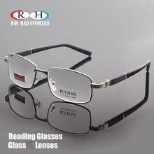 a57e16562b Marca gafas de lectura de vidrio claro lentes miopía gafas de leer gafas +  1,00 ~ + 4,00 rectángulo gafas de diseño 1308