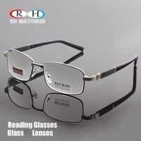 Brand Reading Glasses Clear Glass Lenses Presbyopic Eyeglasses Read Spectacles +1.00~+4.00 Rectangle Glasses Design 1308