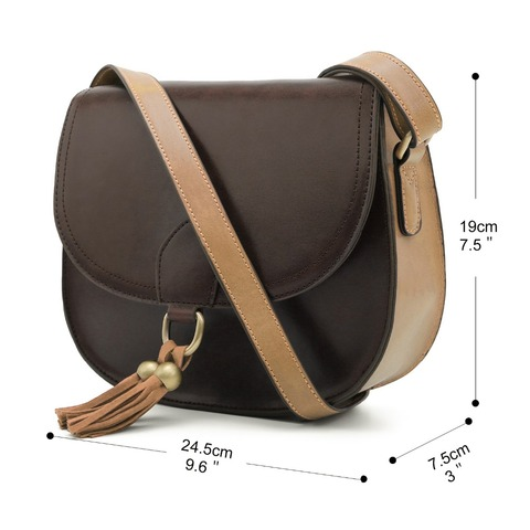 "ECOSUSI Women 10"" Saddle Bags PU Leather Messenger Bags Women Crossbody BuckleBags With Tassel Female Crossbody Bags Clutch Bag Multan"